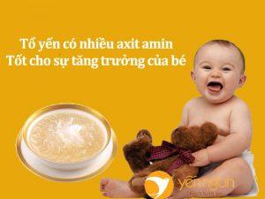 Tác dụng của tổ yến với trẻ em